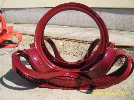 Saksija od gume crven borda boja