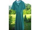 zeleno bela haljina sa sirokom  faltanom suknjom